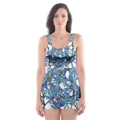 Modern Nouveau Pattern Skater Dress Swimsuit by dflcprintsclothing