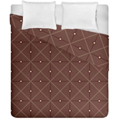 Coloured Line Squares Brown Plaid Chevron Duvet Cover Double Side (california King Size) by Mariart