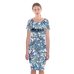 Modern Nouveau Pattern Classic Short Sleeve Midi Dress by dflcprintsclothing
