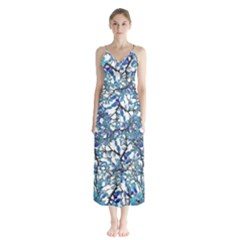 Modern Nouveau Pattern Chiffon Maxi Dress by dflcprintsclothing