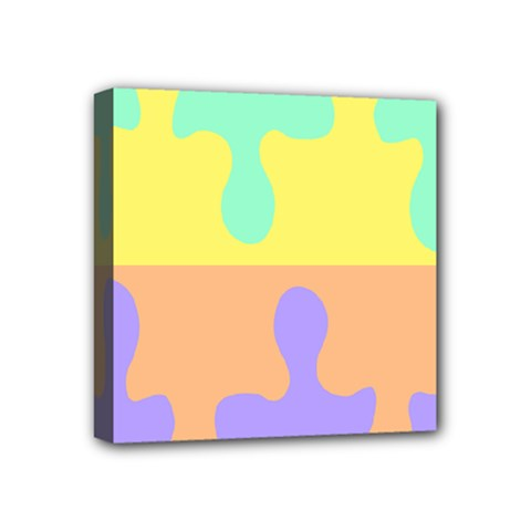 Puzzle Gender Mini Canvas 4  X 4  by Mariart