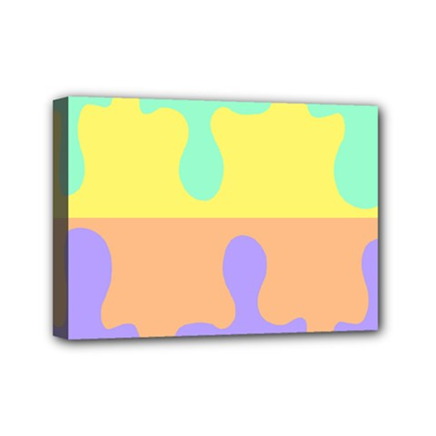 Puzzle Gender Mini Canvas 7  X 5  by Mariart