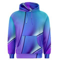 Line Blue Light Space Purple Men s Pullover Hoodie