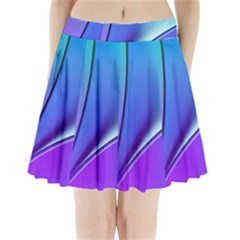 Line Blue Light Space Purple Pleated Mini Skirt by Mariart