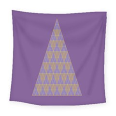 Pyramid Triangle  Purple Square Tapestry (large)