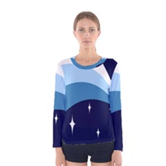Star Gender Flags Women s Long Sleeve Tee by Mariart