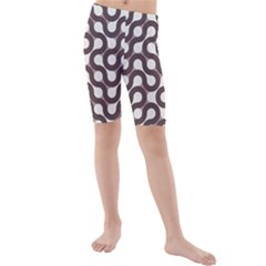 Seamless Geometric Circle Kids  Mid Length Swim Shorts by Mariart