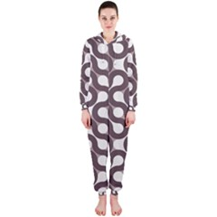Seamless Geometric Circle Hooded Jumpsuit (ladies)  by Mariart