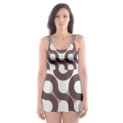 Seamless Geometric Circle Skater Dress Swimsuit by Mariart