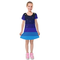 Stra Polkadot Polka Gender Flags Kids  Short Sleeve Velvet Dress by Mariart