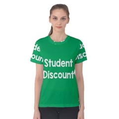 Student Discound Sale Green Women s Cotton Tee by Mariart