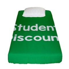 Student Discound Sale Green Fitted Sheet (single Size) by Mariart