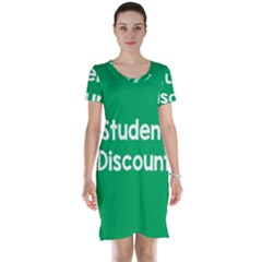 Student Discound Sale Green Short Sleeve Nightdress