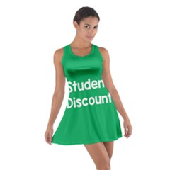 Student Discound Sale Green Cotton Racerback Dress