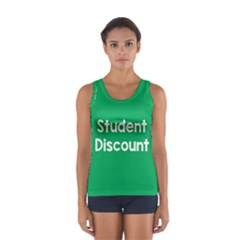 Student Discound Sale Green Women s Sport Tank Top  by Mariart