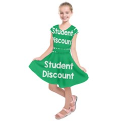 Student Discound Sale Green Kids  Short Sleeve Dress by Mariart
