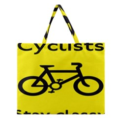 Stay Classy Bike Cyclists Sport Zipper Large Tote Bag by Mariart