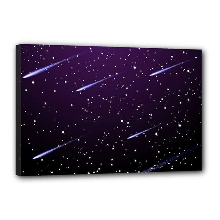 Starry Night Sky Meteor Stock Vectors Clipart Illustrations Canvas 18  x 12