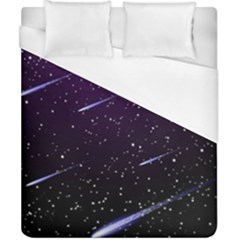 Starry Night Sky Meteor Stock Vectors Clipart Illustrations Duvet Cover (california King Size) by Mariart