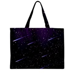 Starry Night Sky Meteor Stock Vectors Clipart Illustrations Medium Tote Bag by Mariart