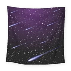 Starry Night Sky Meteor Stock Vectors Clipart Illustrations Square Tapestry (large) by Mariart