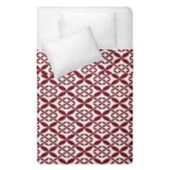 Pattern Kawung Star Line Plaid Flower Floral Red Duvet Cover Double Side (single Size) by Mariart