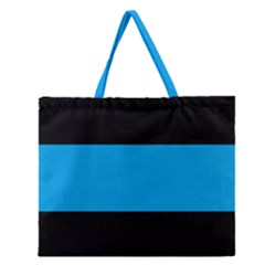 Tomboy Playboy Flag Blue Black Mline Zipper Large Tote Bag by Mariart