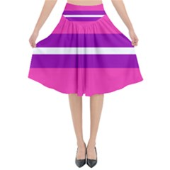 Transgender Flags Flared Midi Skirt by Mariart