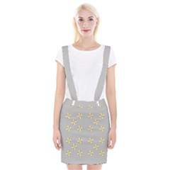 Syrface Flower Floral Gold White Space Star Braces Suspender Skirt