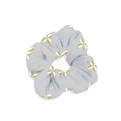 Syrface Flower Floral Gold White Space Star Velvet Scrunchie by Mariart