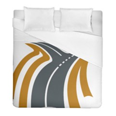 Transparent All Road Tours Bus Charter Street Duvet Cover (full/ Double Size) by Mariart