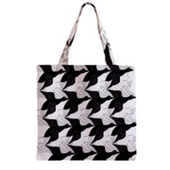 Swan Black Animals Fly Zipper Grocery Tote Bag by Mariart