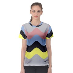 Wave Waves Chevron Sea Beach Rainbow Women s Sport Mesh Tee by Mariart
