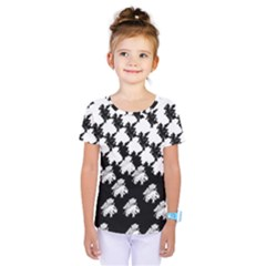 Transforming Escher Tessellations Full Page Dragon Black Animals Kids  One Piece Tee