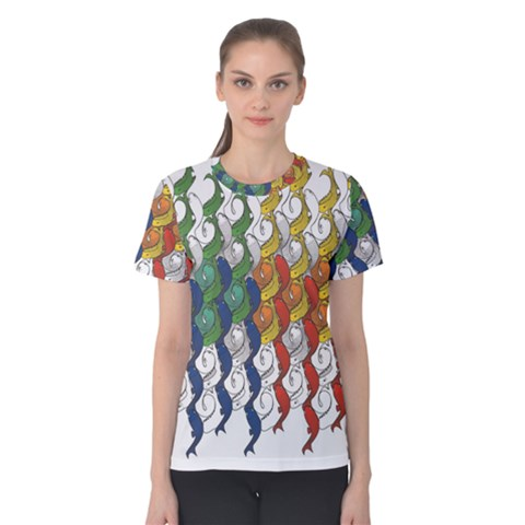 Rainbow Fish Women s Cotton Tee by Mariart