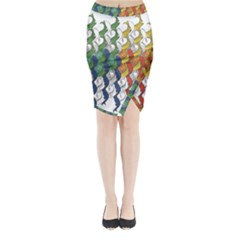 Rainbow Fish Midi Wrap Pencil Skirt by Mariart