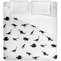 Dinosaurs Pattern Duvet Cover (king Size) by Valentinaart