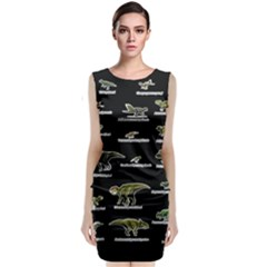 Dinosaurs Names Classic Sleeveless Midi Dress by Valentinaart