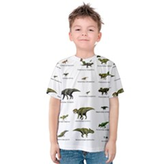 Dinosaurs Names Kids  Cotton Tee