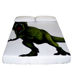 Dinosaurs T Rex Fitted Sheet (king Size) by Valentinaart