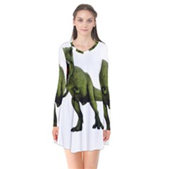 Dinosaurs T Rex Flare Dress by Valentinaart