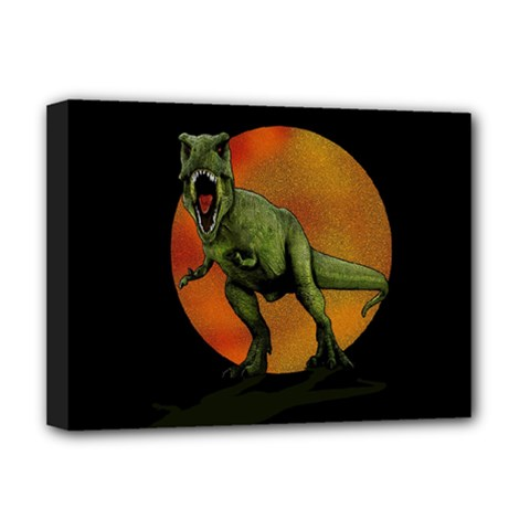 Dinosaurs T Rex Deluxe Canvas 16  X 12   by Valentinaart