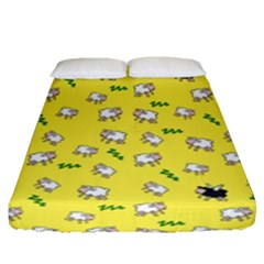 Sweet Dreams  Fitted Sheet (queen Size) by Valentinaart