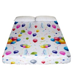 Balloons   Fitted Sheet (california King Size)