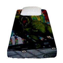 Urban T Rex Fitted Sheet (single Size) by Valentinaart