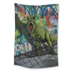 Urban T Rex Large Tapestry