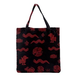 Aztecs Pattern Grocery Tote Bag