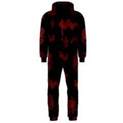 Aztecs Pattern Hooded Jumpsuit (men)