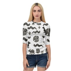 Aztecs Pattern Quarter Sleeve Tee