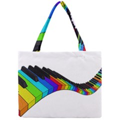 Rainbow Piano  Mini Tote Bag